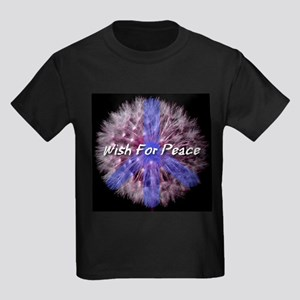 Wish For Peace Dandelion Kids Dark T-Shirt