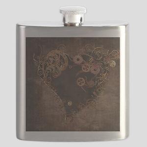 Steampunk Heart Flask
