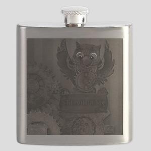 Steampunk Owl Flask