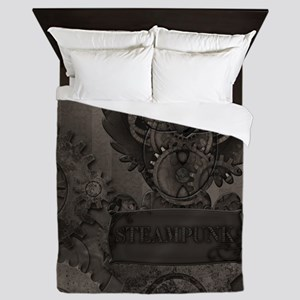 Steampunk Owl Queen Duvet