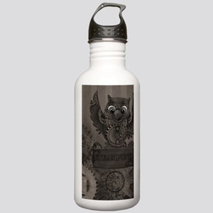 Steampunk Owl Stainless Water Bottle 1.0L