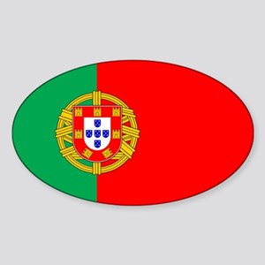 Portuguese Flag of Portugal Oval Sticker