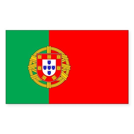 Portuguese Flag of Portugal Rectangle Sticker