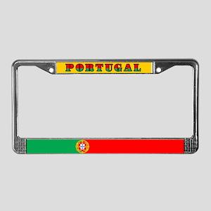 Portuguese Flag of Portugal License Plate Frame