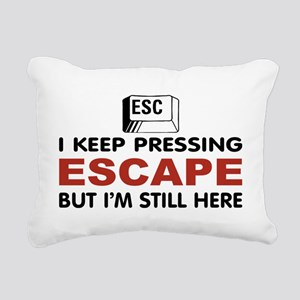Escape Key Rectangular Canvas Pillow