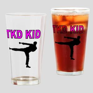 TKD KID Drinking Glass