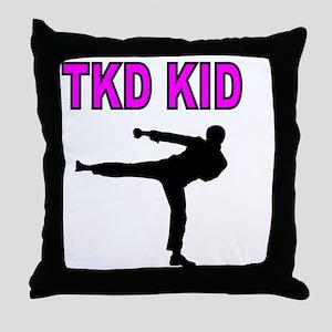 TKD KID Throw Pillow