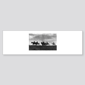 Night Scouts Historical Photo Bumper Sticker