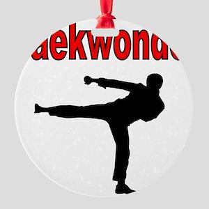 Taekwondo Round Ornament