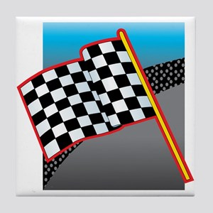 Checkered Flag Tile Coaster