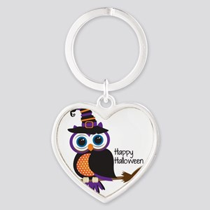 Witch Owl Heart Keychain