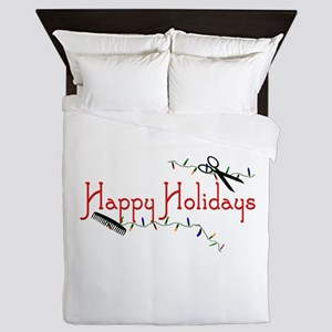 Happy Hairstylist Holidays Queen Duvet