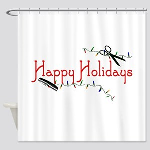 Happy Hairstylist Holidays Shower Curtain