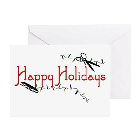 Happy Hairstylist Holidays Greeting Cards (Pk of 2