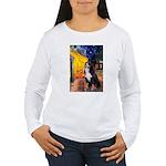 Cafe & Bernese Women's Long Sleeve T-Shirt