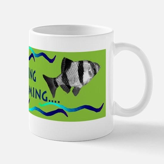 Just keep swimming bumpersticker Mug