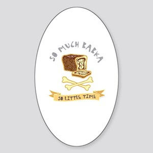 Babka Lover Oval Sticker