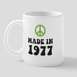 Made In 1977 Peace Symbol Mug