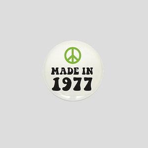 Made In 1977 Peace Symbol Mini Button