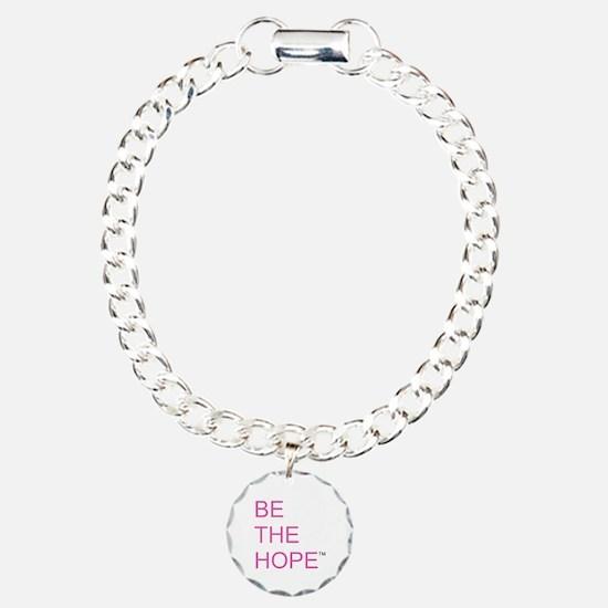 Be the Hope in Black Charm Bracelet, One Charm