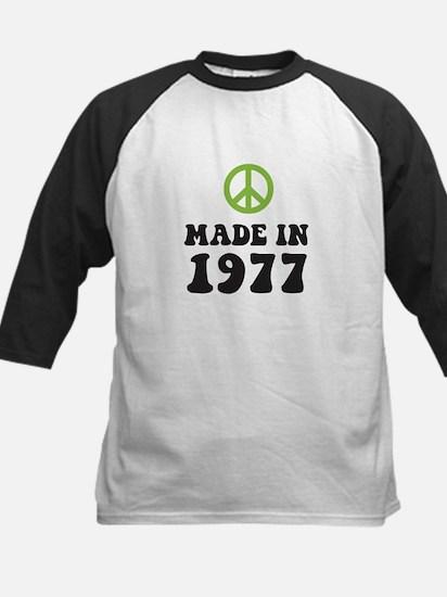 Made In 1977 Peace Symbol Kids Baseball Jersey