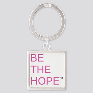 Be the Hope in Black Square Keychain
