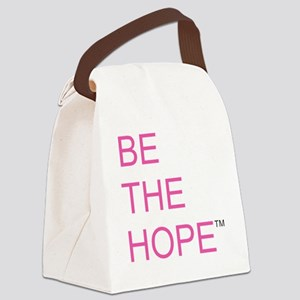 Be the Hope in Black Canvas Lunch Bag