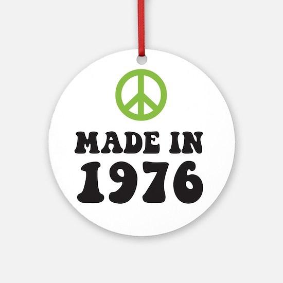 Made In 1976 Peace Symbol Ornament (Round)