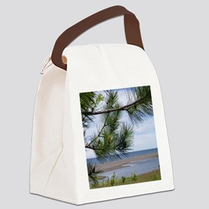 Gray Mining Sands Lake Superior Canvas Lunch Bag