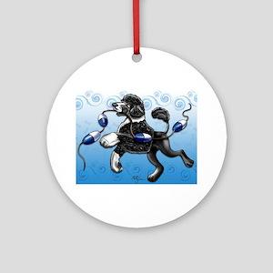 Portuguese Water Dog Round Ornament