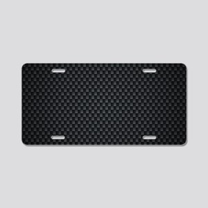 Carbon Mesh Pattern Aluminum License Plate