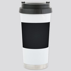 Carbon Mesh Pattern Stainless Steel Travel Mug