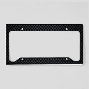 Carbon Mesh Pattern License Plate Holder