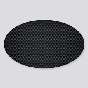 Carbon Mesh Pattern Sticker (Oval)