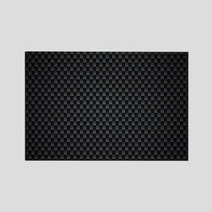 Carbon Mesh Pattern Rectangle Magnet