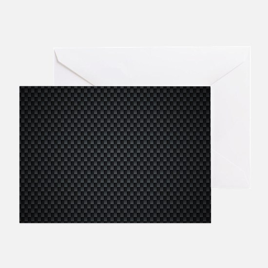 Carbon Mesh Pattern Greeting Card