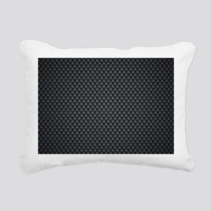 Carbon Mesh Pattern Rectangular Canvas Pillow