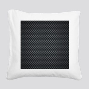 Carbon Mesh Pattern Square Canvas Pillow