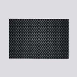 Carbon Mesh Pattern Rectangle Magnet