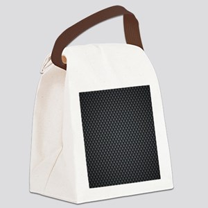 Carbon Mesh Pattern Canvas Lunch Bag
