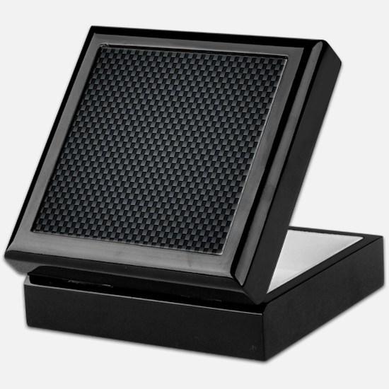 Carbon Mesh Pattern Keepsake Box