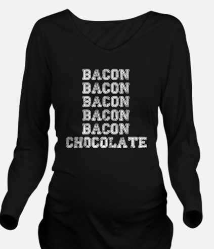 Bacon and Chocolate Long Sleeve Maternity T-Shirt