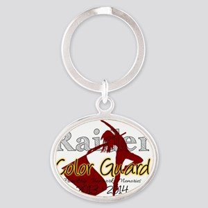 TJ Raider Color Guard Oval Keychain