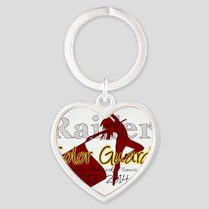 TJ Raider Color Guard Heart Keychain
