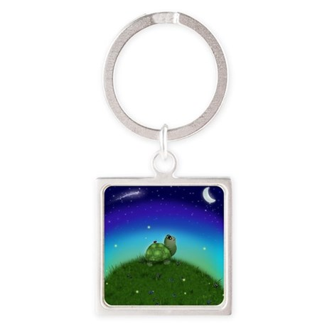 Turtle Hill Square Keychain