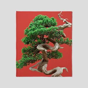 Juniper bonsai Throw Blanket