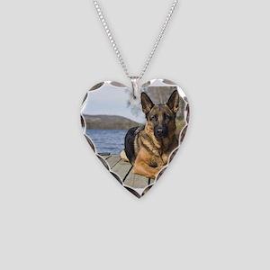 German Shepherd Necklace Heart Charm