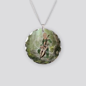 The Elven Forest Necklace Circle Charm