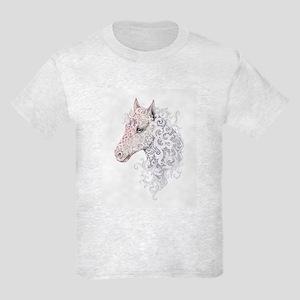 Horse Head Tattoo Kids Light T-Shirt