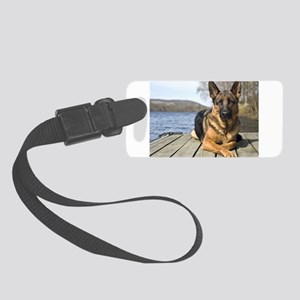 German Shepherd Small Luggage Tag